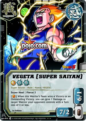 Vegeta [Super Saiyan]. #WA-075. Card Ratings Average Score: 5.00