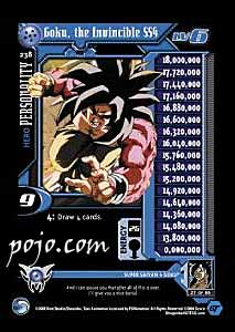 dbz collectible card: