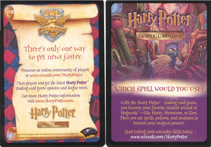 NM--M Brilliant! Original Harry Potter TCG League First 8 Promo Cards WOC  NP
