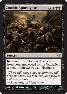 magic gathering zombie mtg apocalypse cards commander pojo wizards decks