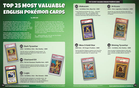 Top 25 Most Valuable U.S. Pokemon Cards