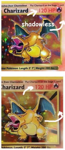 Shadowless Pokemon Card example