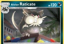 Alolan Raticate Burning Shadows BUS 82
