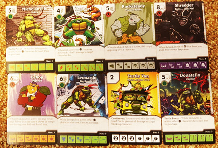 TMNT Dice Masters Cards