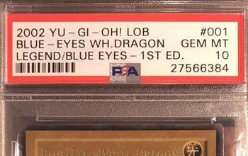 PSA 10 GEM MINT Blue-Eyes White Dragon (LOB-001) 1st edition