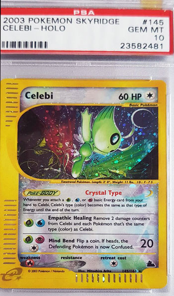 PSA 10 GEM MINT Celebi Skyridge Crystal Holo 2003 - $2k