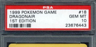 1999 Pokemon 1st Edition Base Dragonair PSA 10 Gem Mint #18