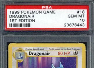 1999 Pokemon 1st Edition Base Dragonair PSA 10 Gem Mint #18