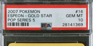 Pokémon Espeon Gold Star POP Series 5