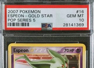 Pokémon Espeon Gold Star POP Series 5