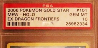 Gold Star Mew EX Dragon Frontiers