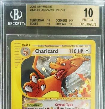 2003, Skyridge Crystal Holo CHARIZARD #146