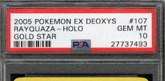 Gold Star Holo Rayquaza