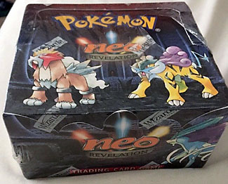 1st edition pokemon neo revelation booster box!