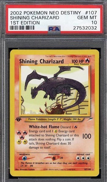 16 Shining Charizard 25 Most Valuable Most Expensive Pokemon