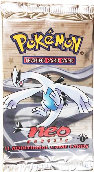 holo or non-holo 1st Edition Mint Neo Genesis Booster Open Pack !