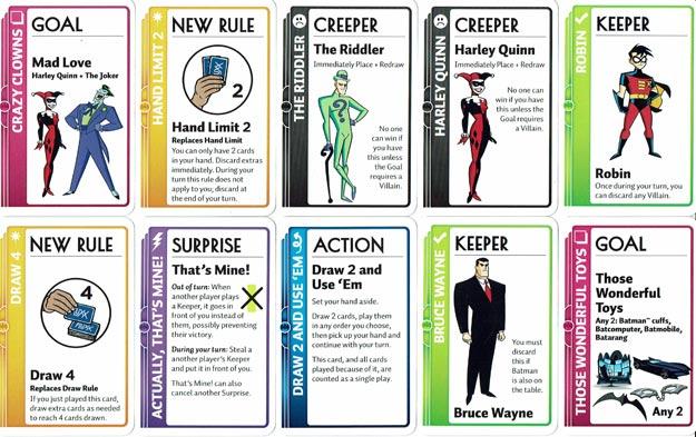 Batman Fluxx Card Sample