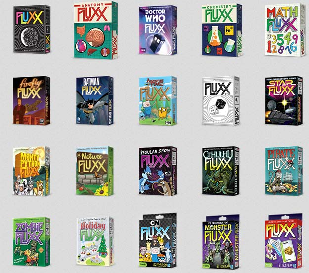 A sample of Fluxx Games