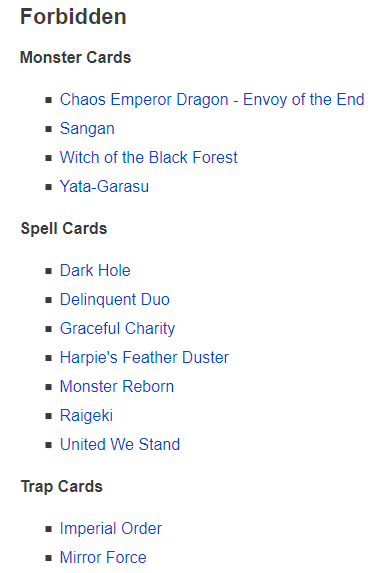 Banned List Image