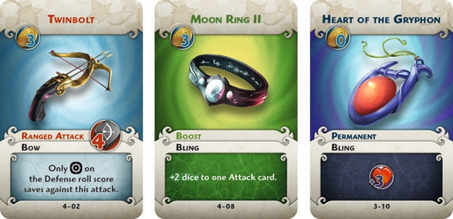 equipment cards arcadia quest