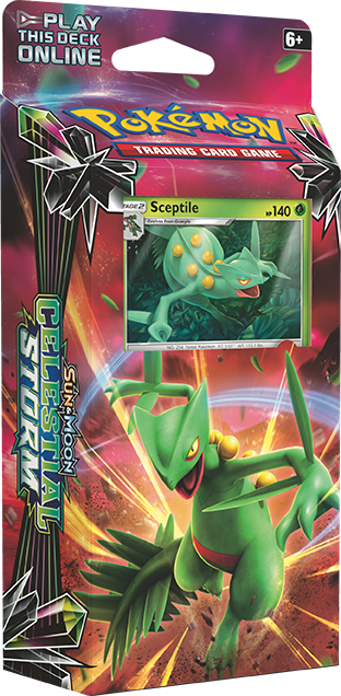 Sun and Moon Celestial Storm Sceptile Deck