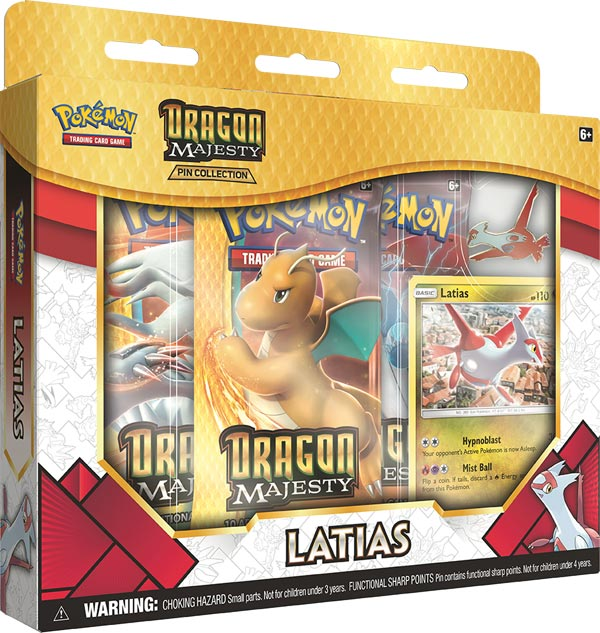 Dragon Majesty Pin Collection Latias