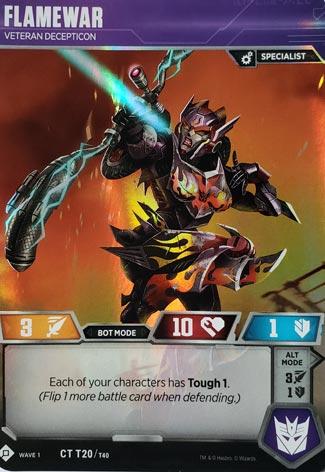 Transformers Tcg Flamewar Ct T20 Wave 1 Mint