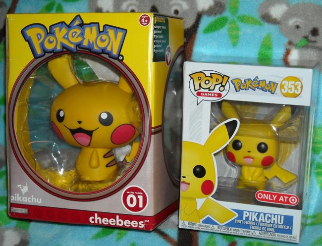 Pikachu Funko Pop and Cheebees