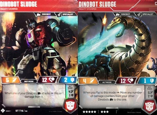 Transformers Trading Card Game 1X DINOBOT SNARL-DESERT WARRIOR FOIL Rare UT T18//T40 2018