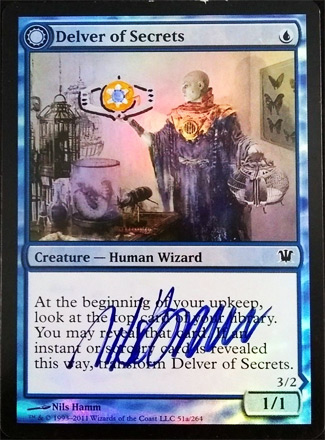 Delver of Secrets Signed and Altered