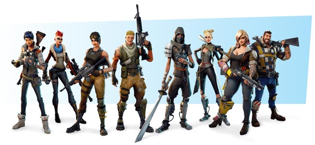 From Left to Right: Outlanders, Soldiers, Ninjas and Constructers