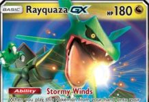 Rayquaza-GX - SM Celestial Storm