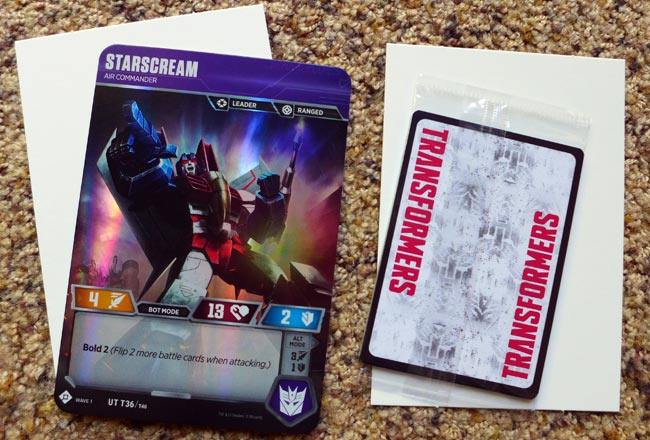 1 Foil Transformer Character Card and 7 Sealed Battle Cards