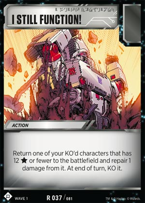 Transformers TCG 1X SYSTEM REBOOT Rare R 075//081 Wave 1 2018 Battle Card