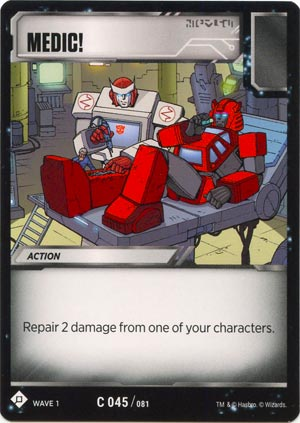 TRANSFORMERS TCG Wave 1 //// 3-Card Playset = C 039 Incoming Transmission