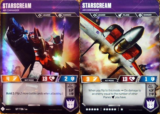 Two Sided Starscream Transformer