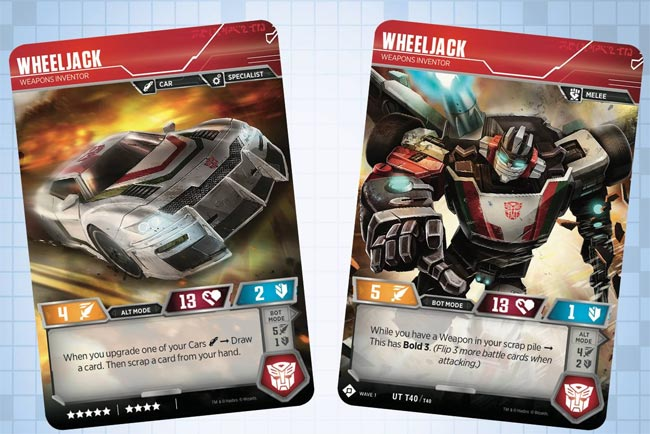 Wheeljack Transformers TCG