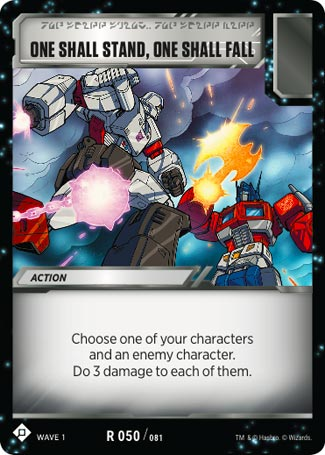 Wave 1 One Shall Fall TRANSFORMERS TCG One Shall Stand
