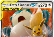 Eevee & Snorlax-GX (Team Up 120)