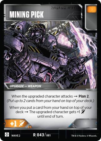 Wave 2 2019 Rare R 035//081 Transformers TCG 1X HEAVY-HANDED Battle Card