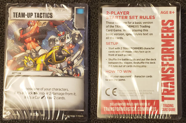 Transformers TCG Battle Cards