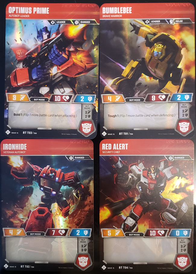 Transformers Character Cards
