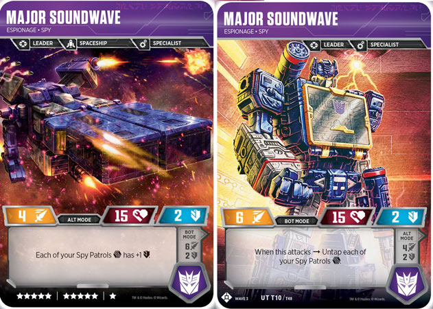 Transformers TCG Character Cards Private Red Alert Medical Medic Wave 3