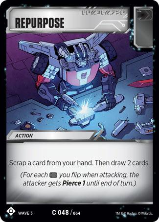 TRANSFORMERS TCG War For Cybertron Siege IBattle card = R 044 Pop A Wheelie