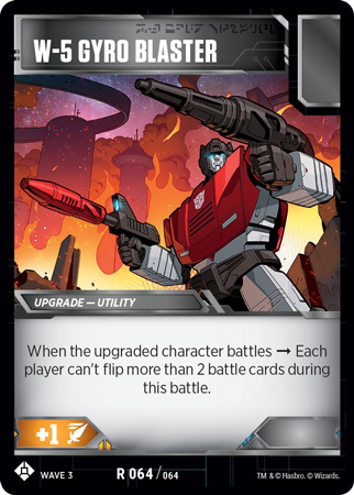TRANSFORMERS TCG War For Cybertron Siege IBattle card = R 060 Take Cover