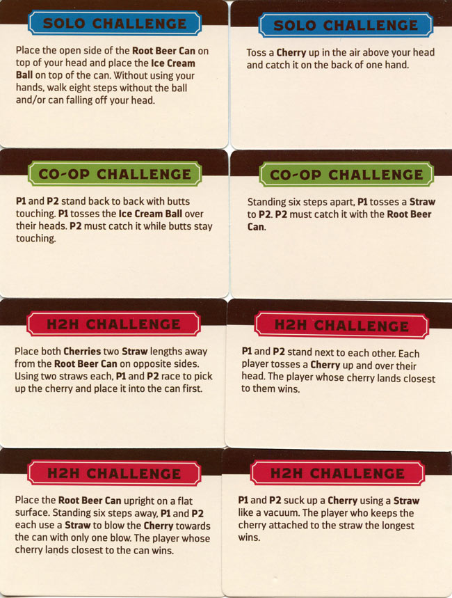 The Root Beer Float Challenge Game Cards
