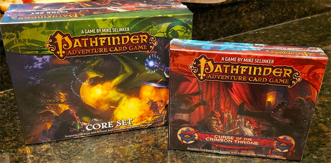 Pathfinder Adventure Card Game Core Set and The Curse of The Crimson Throne Expansion