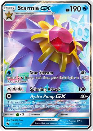 Starmie-GX (Hidden Fates HIF 14)