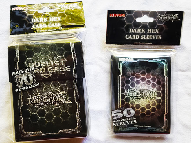 Yu-Gi-Oh! Dark Hex Sleeves and Case