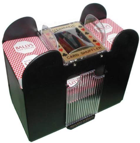Playing Card Shuffler, Automatic Battery Operated 6 Deck Casino Dealer Travel Machine Dispenser by Trademark Poker